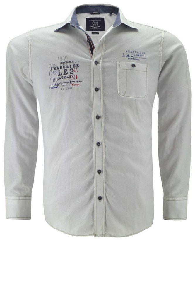 Casamoda Langarmhemd in Weiß