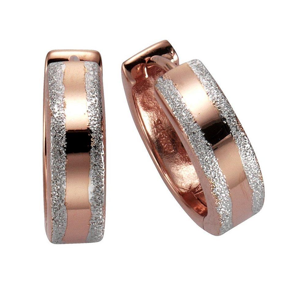 CELESTA Creolen »925/- Sterling Silber« in rot
