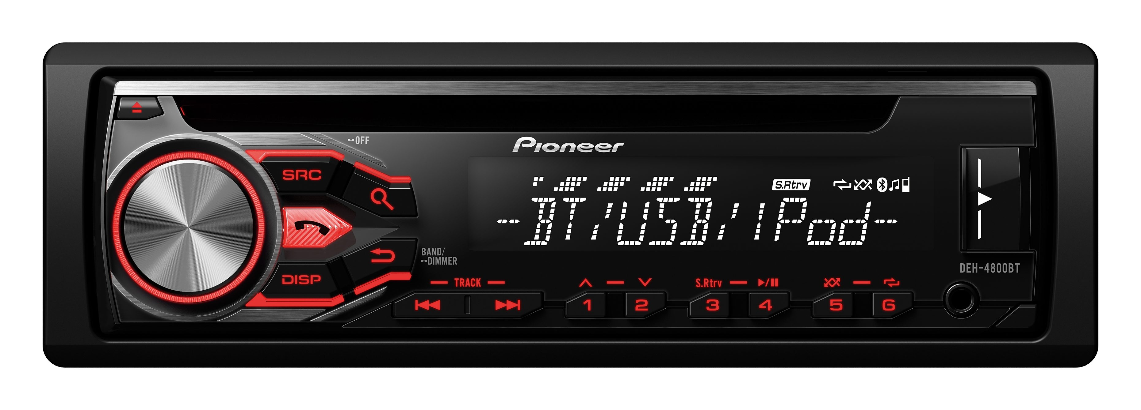 PIONEER 1-DIN CD-Autoradio mit RDS »DEH-4800BT«