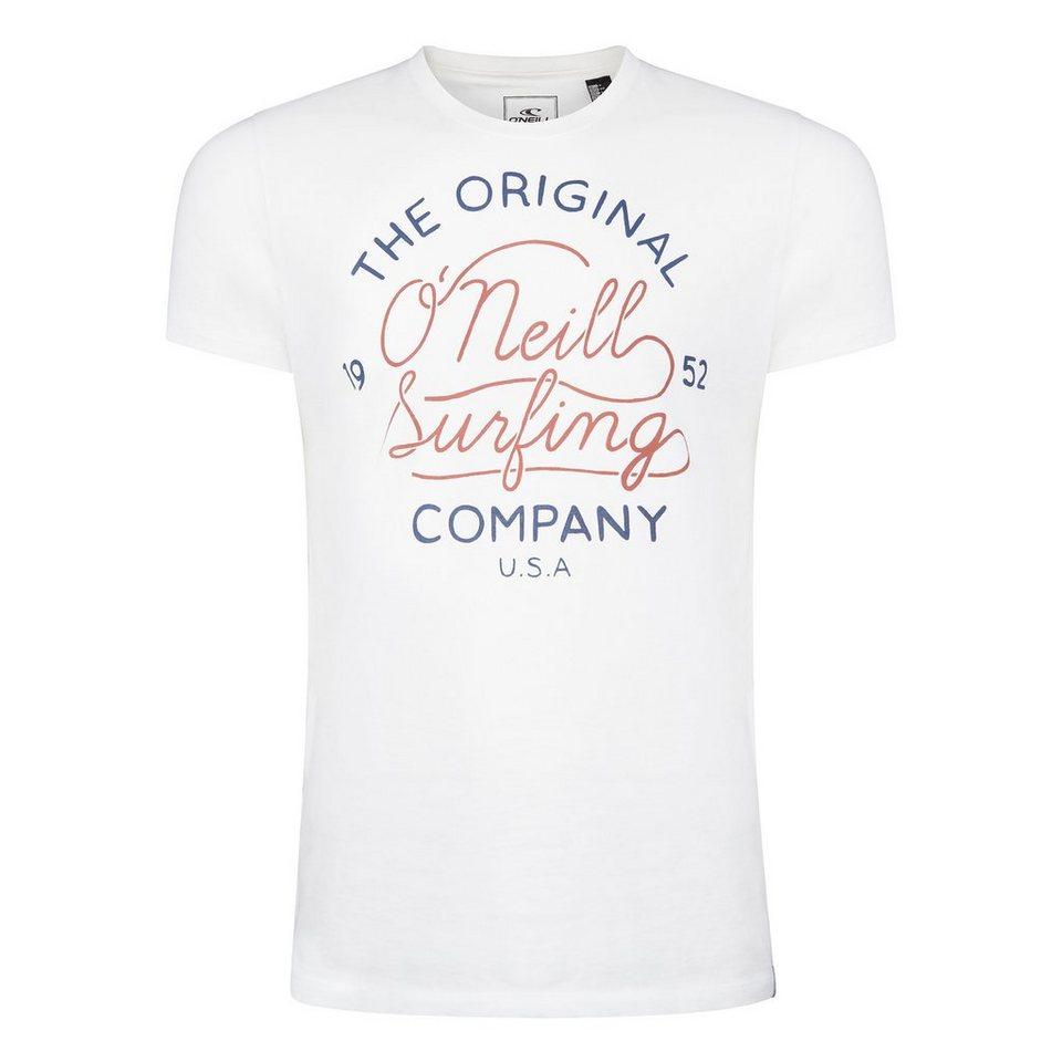 O'Neill T-Shirt kurzärmlig »Company« in Weiß