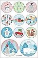 Folia Sticker »Weihnachtszeit«, 44 Stück, Bild 5
