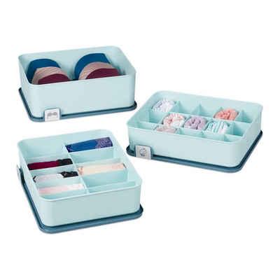 relaxdays Schubladenbox »Schubladen Ordnungssystem für Wäsche«