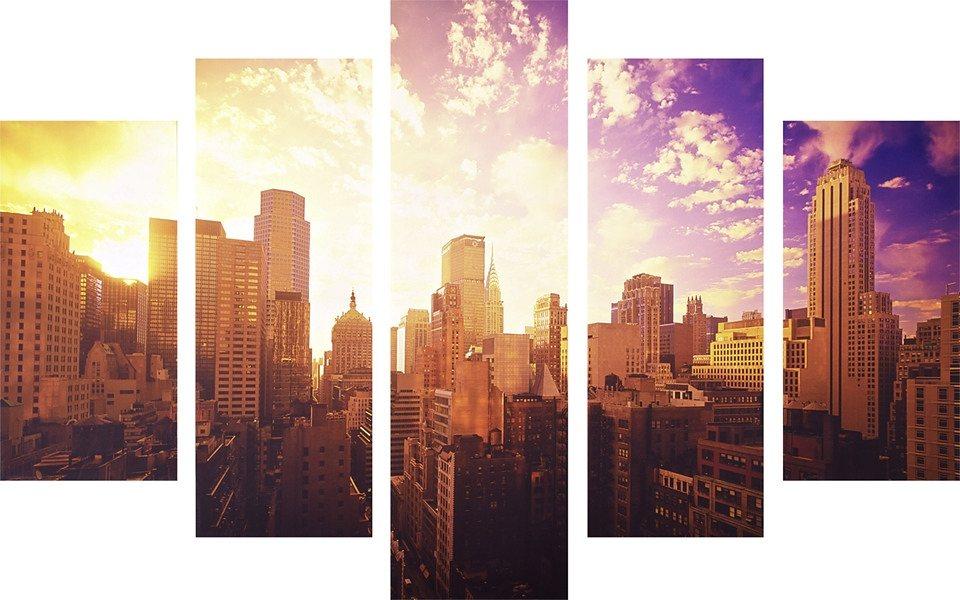 Leinwandbild »New York«, 5er-Set in bunt
