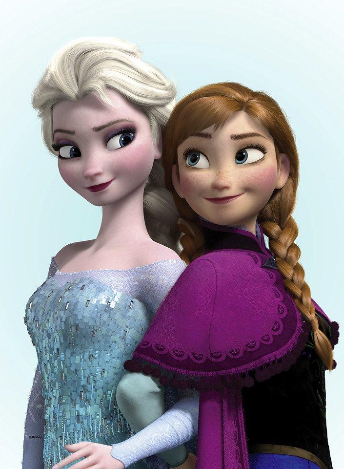 Leinwandbild »Eiskönigin - Elsa und Anna« in bunt