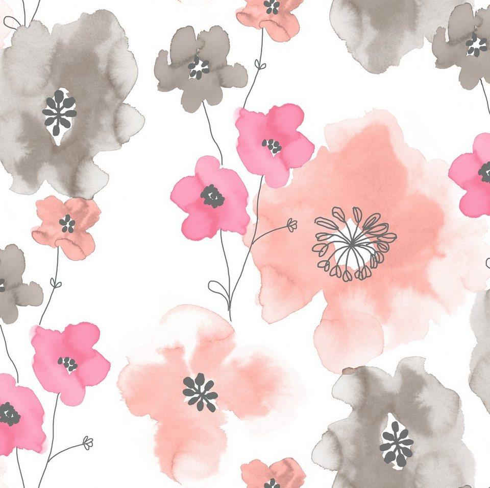 Vliestapete »Blumen« in bunt
