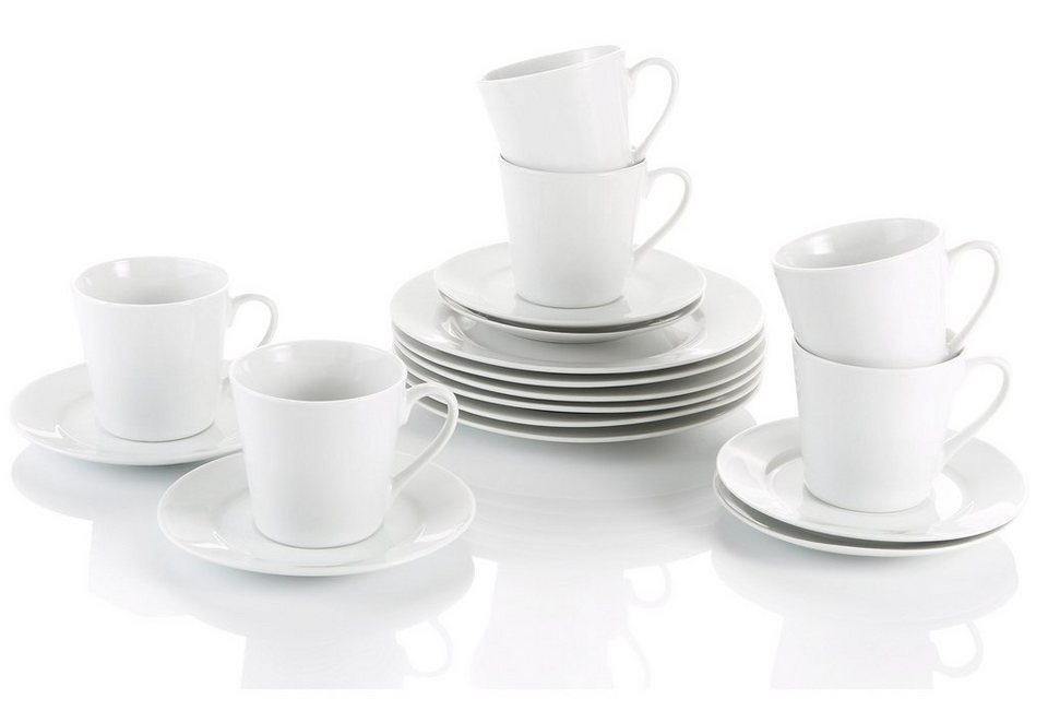 Porzellan Kaffeeservice, »Novo« in weiß