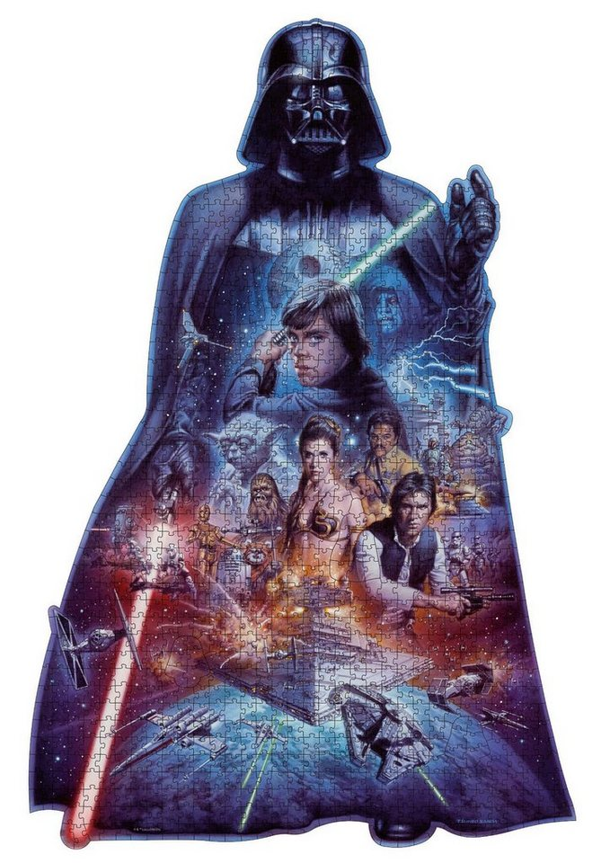 Ravensburger Puzzle, »Silhouette - Darth Vader«