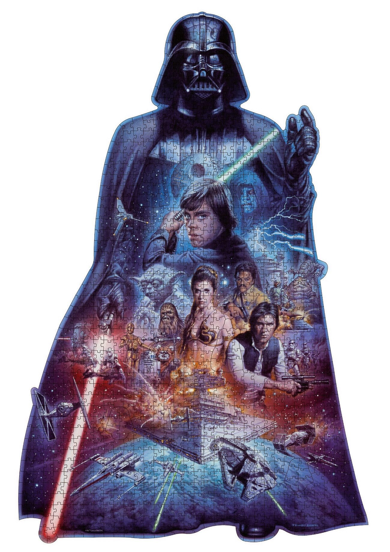 Ravensburger Puzzle, »Silhouette - Darth Vader«