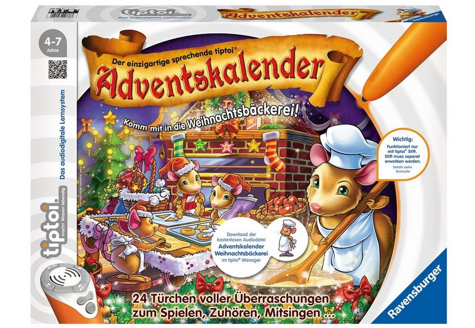 ravensburger adventskalender tiptoi komm mit in die weihnachtsb ckerei online kaufen otto. Black Bedroom Furniture Sets. Home Design Ideas