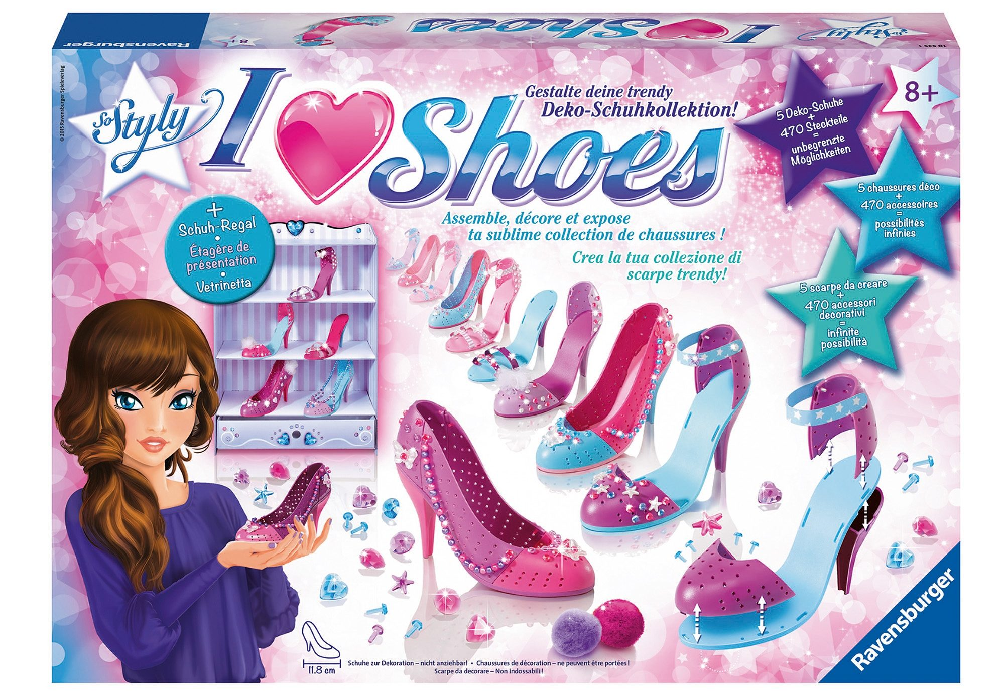Ravensburger Bastel-Set, »So Styly - I Love Shoes Maxi«