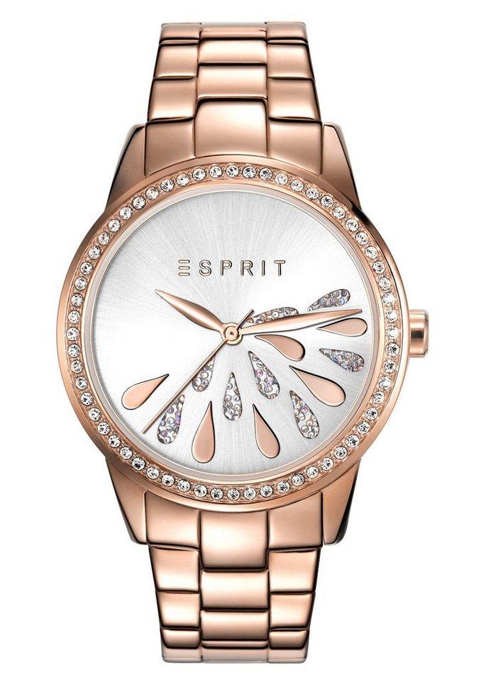 Esprit Quarzuhr »ESPRIT-TP10731 ROSE GOLD DROPS, ES107312008« in roségoldfarben