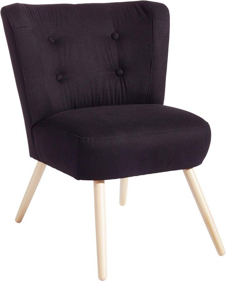Max Winzer® Sessel »Nino« in schwarz