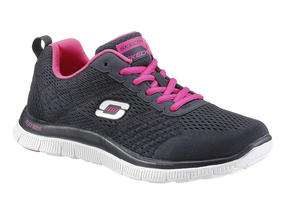Skechers Schnürer mit Memory Foam in navy