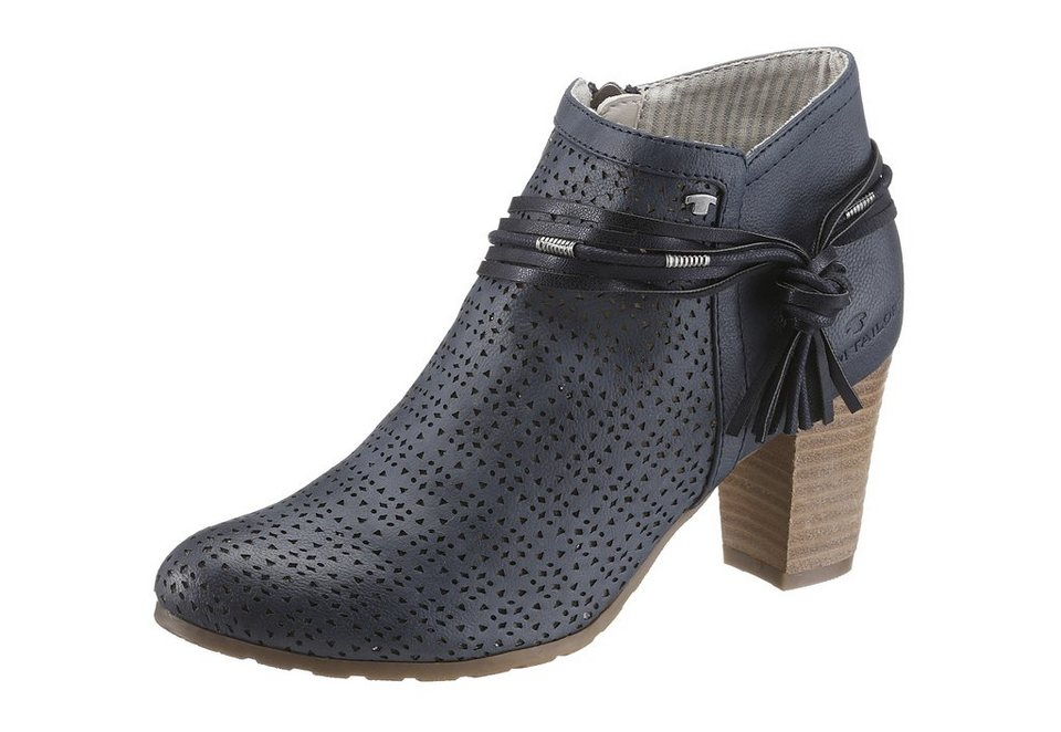 Tom Tailor Stiefelette mit Perforation in navy