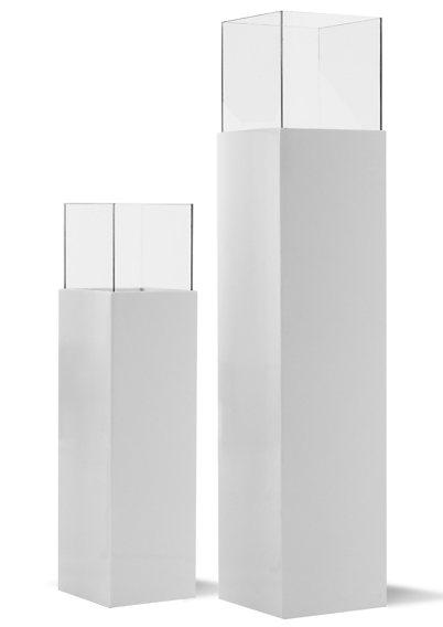 Mailord Collection Windlichtsäule in weiß-klarglas
