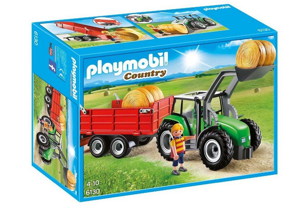 Playmobil® Großer Traktor mit Anhänger (6130), Country online kaufen