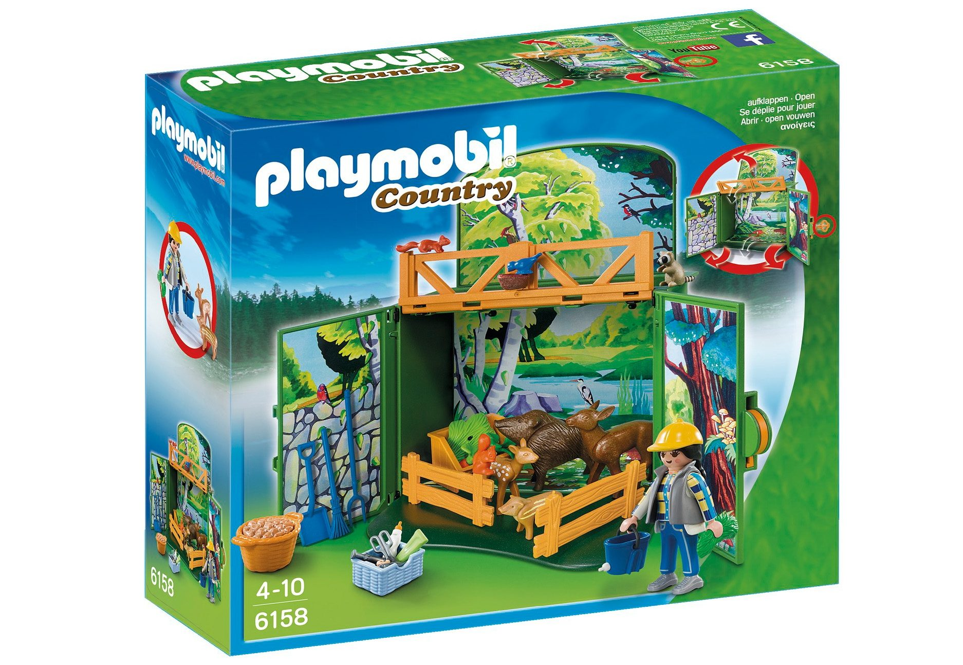 Playmobil® Aufklapp-Spiel-Box »Waldtierfütterung« (6158), Country