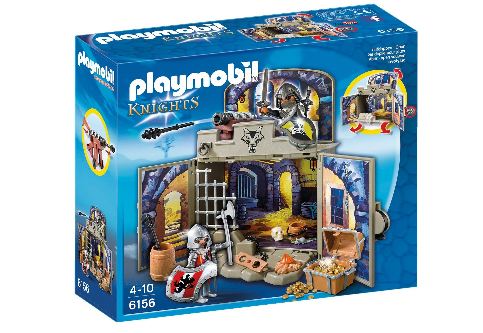 Playmobil® Aufklapp-Spiel-Box »Ritterschatzkammer« (6156), Knights