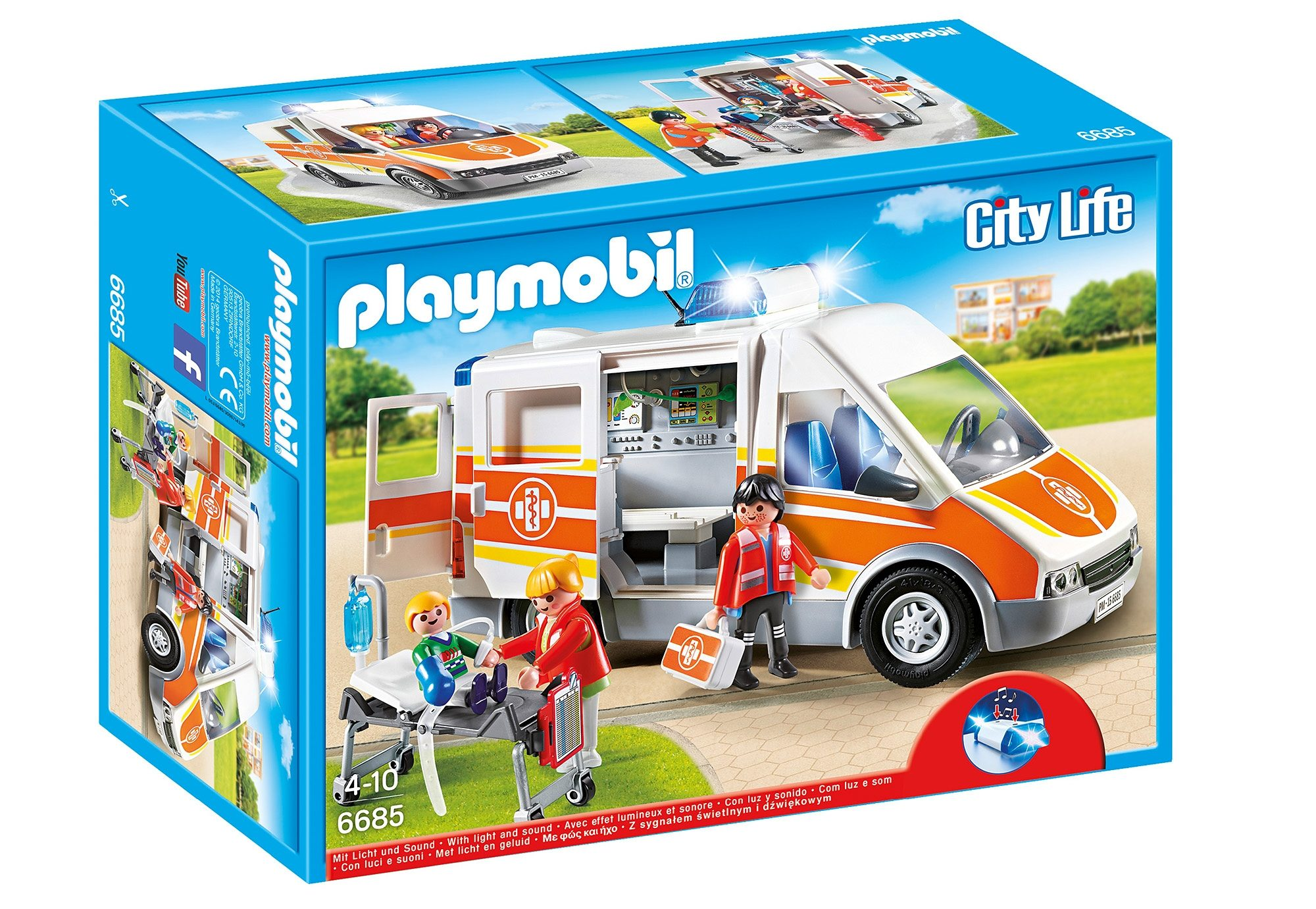 Playmobil® Krankenwagen mit Licht und Sound (6685), City Life