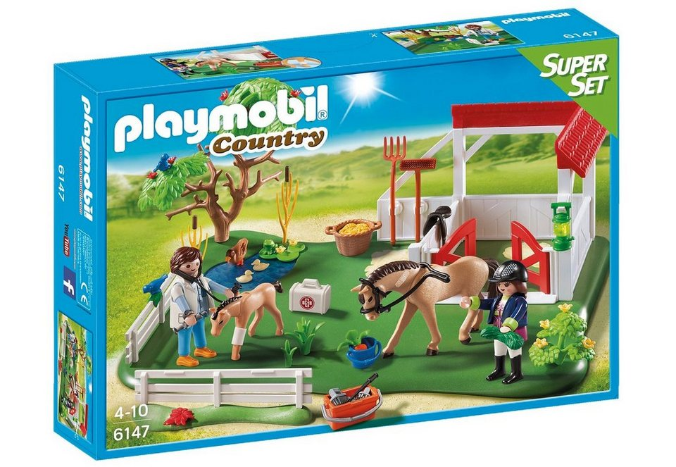 Playmobil® SuperSet Koppel mit Pferdebox (6147), Country