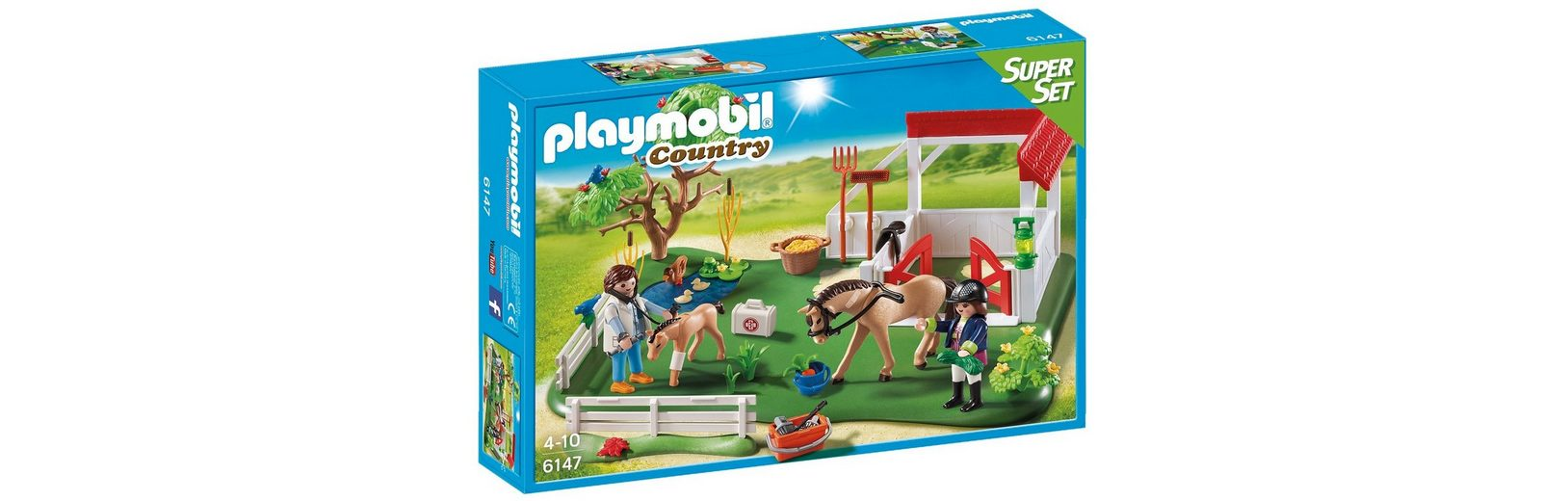 Playmobil® SuperSet Koppel mit Pferdebox (6147), Country