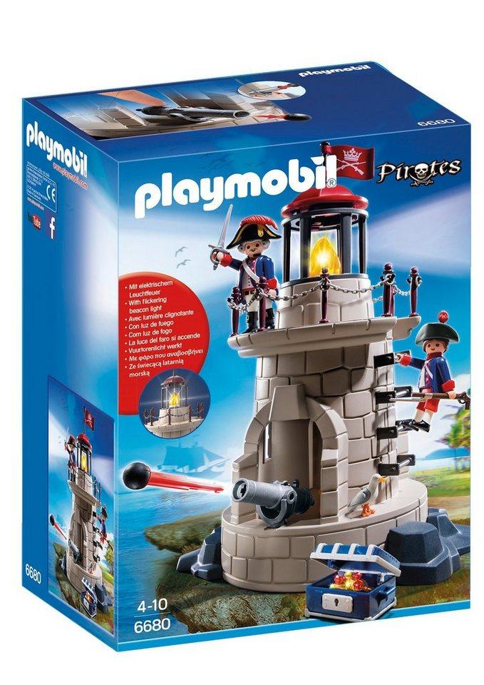 Playmobil® Soldatenturm mit Leuchtfeuer (6680), Pirates in braun