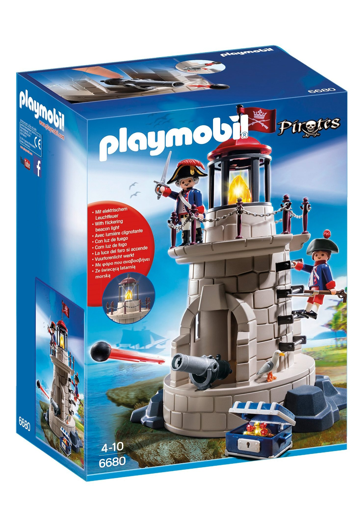 Playmobil® Soldatenturm mit Leuchtfeuer (6680), Pirates