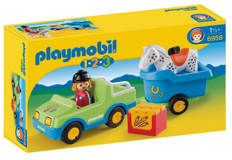 Playmobil® 1.2.3 PKW mit Pferdeanhänger (6958), Playmobil 123