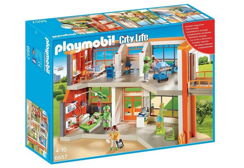 Playmobil® Kinderklinik mit Einrichtung (6657), City Life