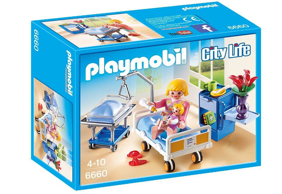 Playmobil® Krankenzimmer mit Babybett (6660), City Life
