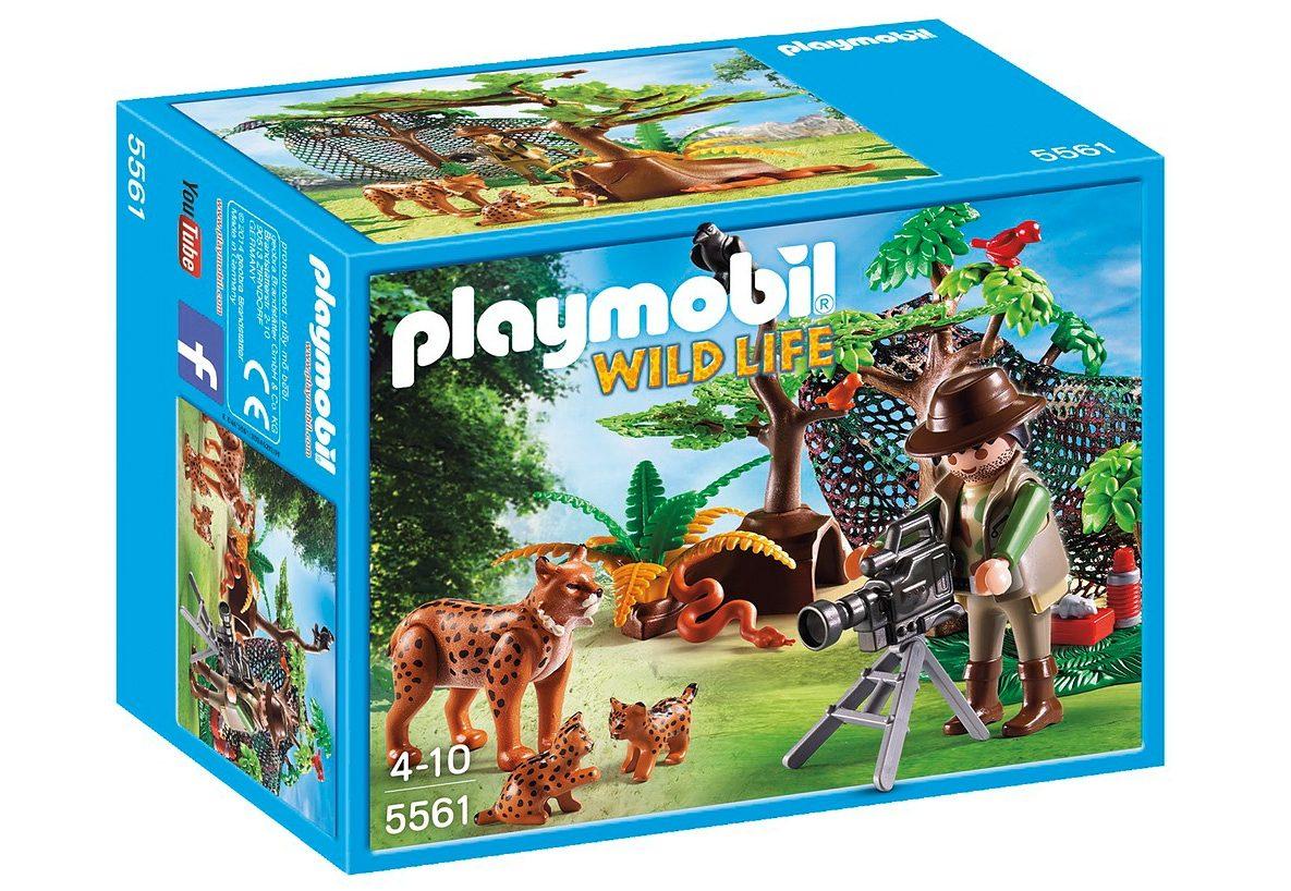 Playmobil® Luchsfamilie mit Tierfilmer (5561), Wild Life
