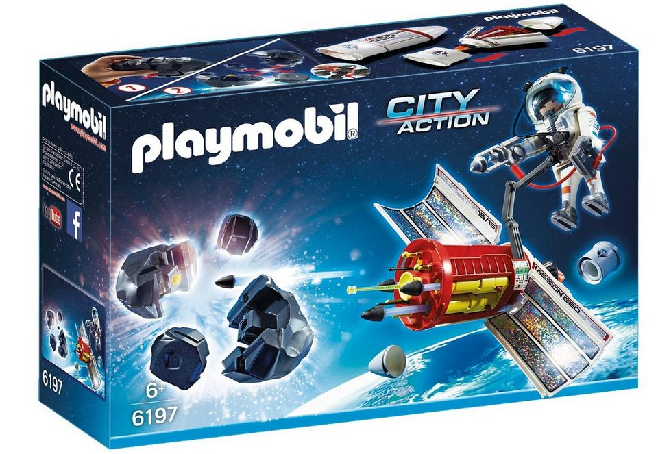 Playmobil® Meteoroiden-Zerstörer (6197), City Action in blau