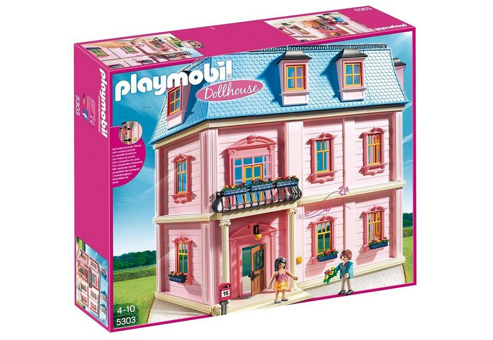 playmobil romantisches puppenhaus 5303 dollhouse online kaufen otto. Black Bedroom Furniture Sets. Home Design Ideas
