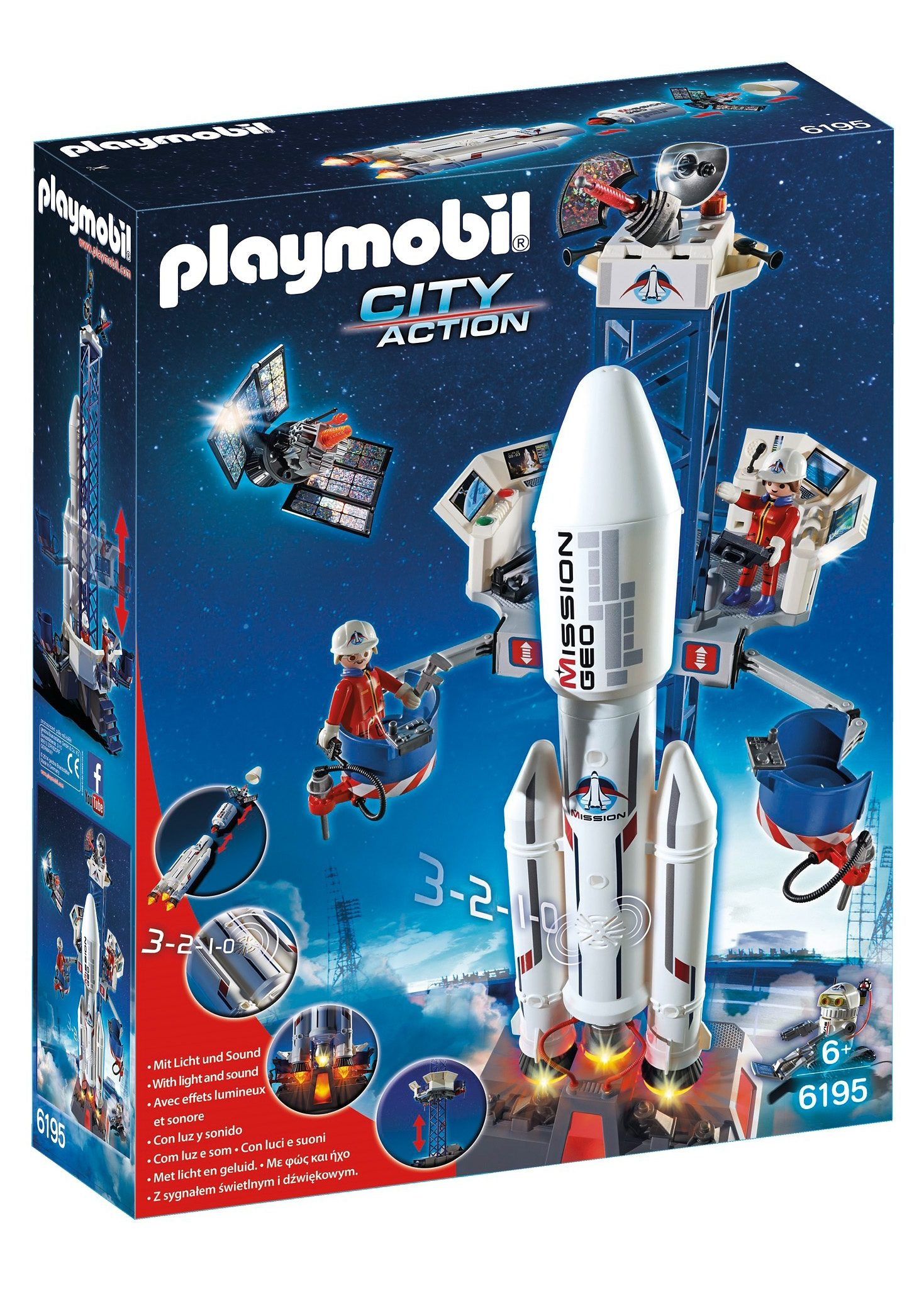 Playmobil® Weltraumrakete mit Basisstation (6195), City Action