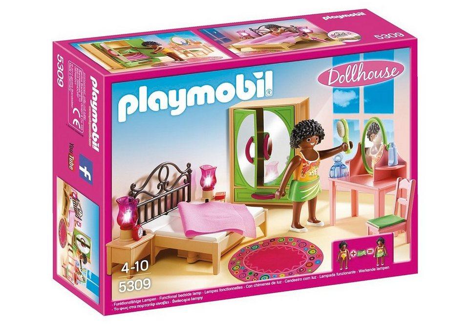 Playmobil® Schlafzimmer mit Schminktischchen (5309), Dollhouse ...
