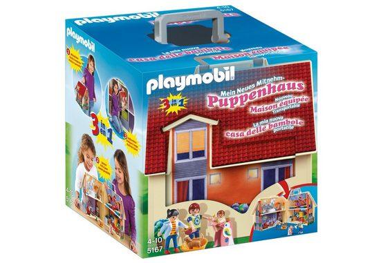 Playmobil® Konstruktions-Spielset »Neues Mitnehm-Puppenhaus (5167), Dollhouse«