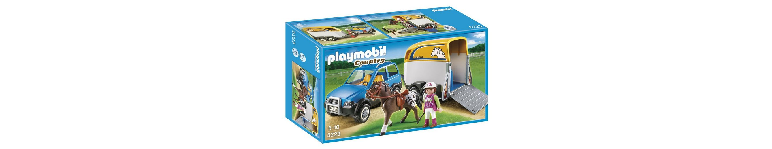 Playmobil® PKW mit Pferdeanhänger (5223), Country