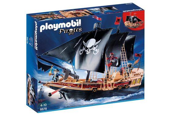 Playmobil® Konstruktionsspielsteine »Piraten-Kampfschiff (6678), Pirates«