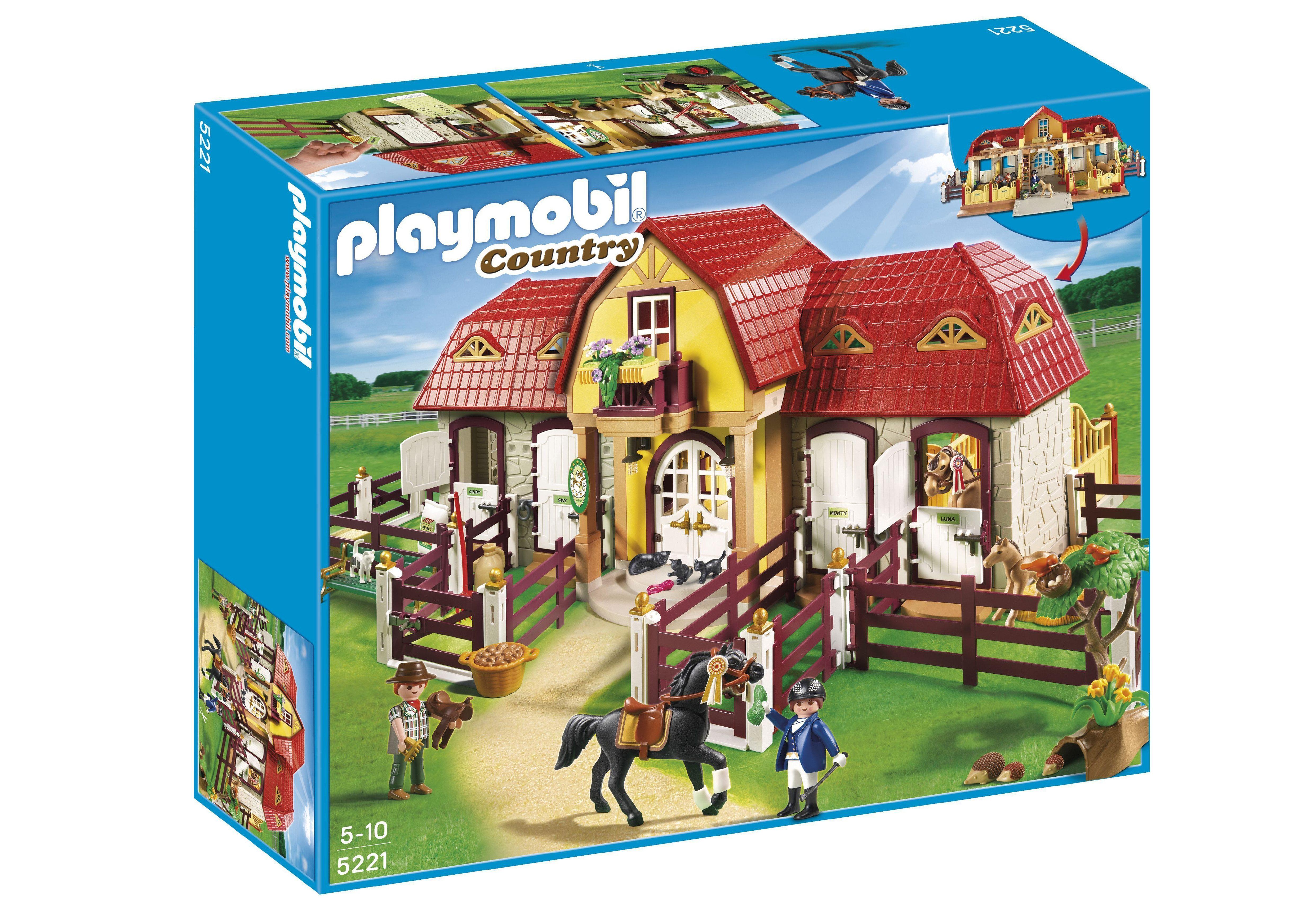 Playmobil® Großer Reiterhof mit Paddocks (5221), Country