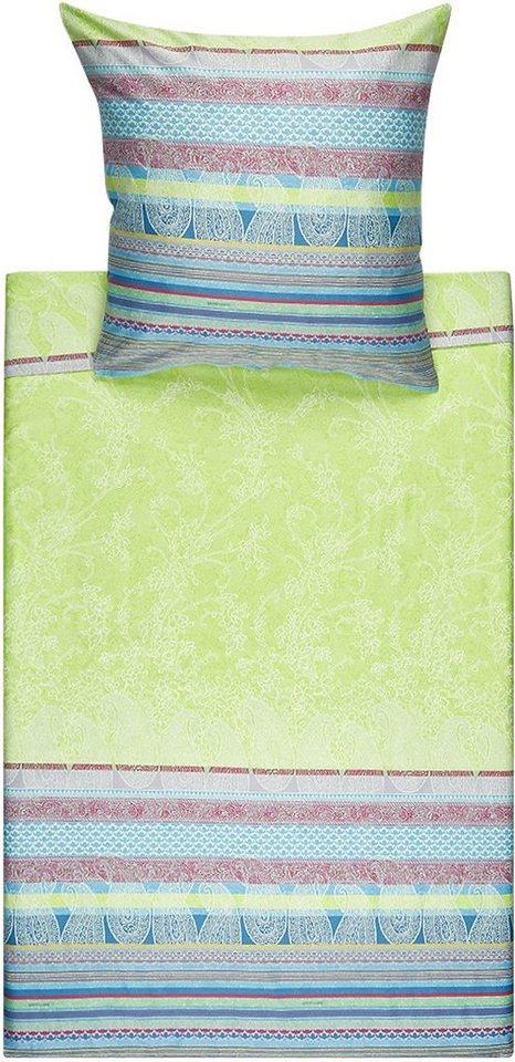 Bettwäsche, Bassetti, »Tiziano«, mit Streifen in grün
