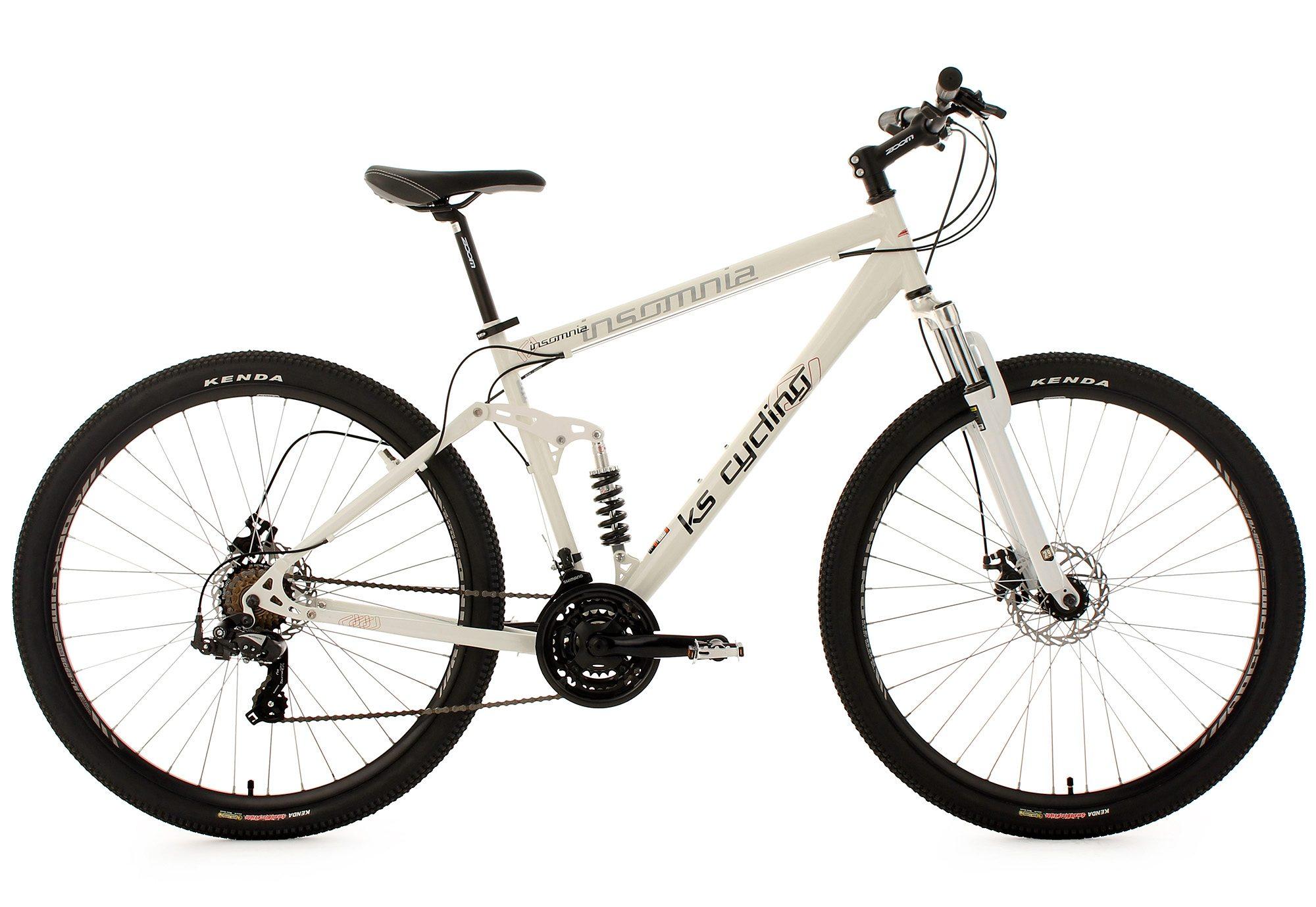KS Cycling Fully Mountainbike, 29 Zoll, weiß, 21 Gang-Kettenschaltung, »Insomnia«