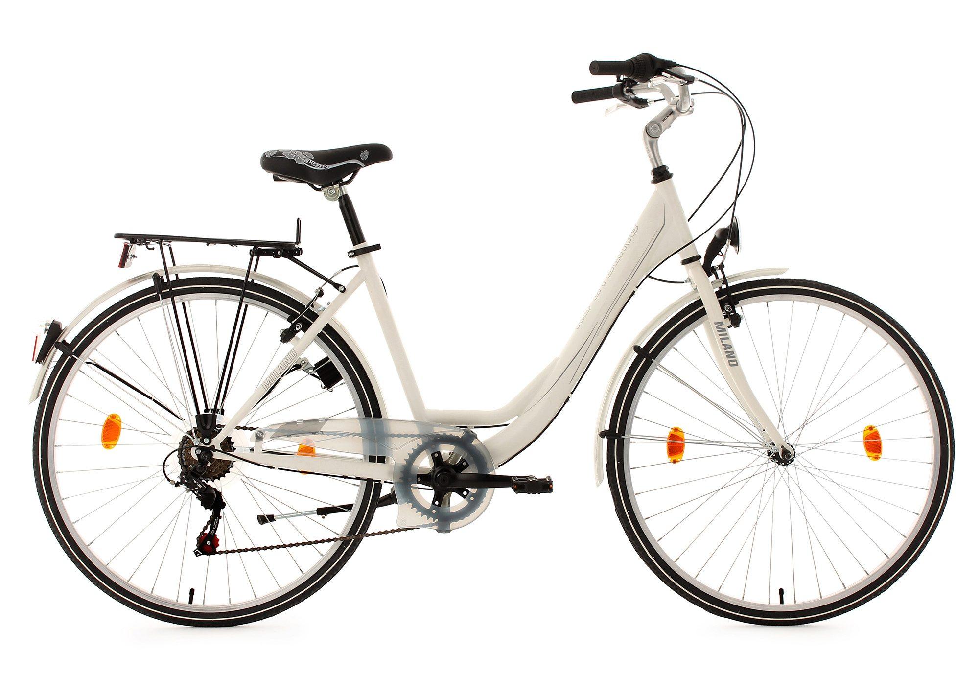 KS Cycling Damen Cityrad, 28 Zoll, weiß, 6 Gang-Kettenschaltung, »Milano«