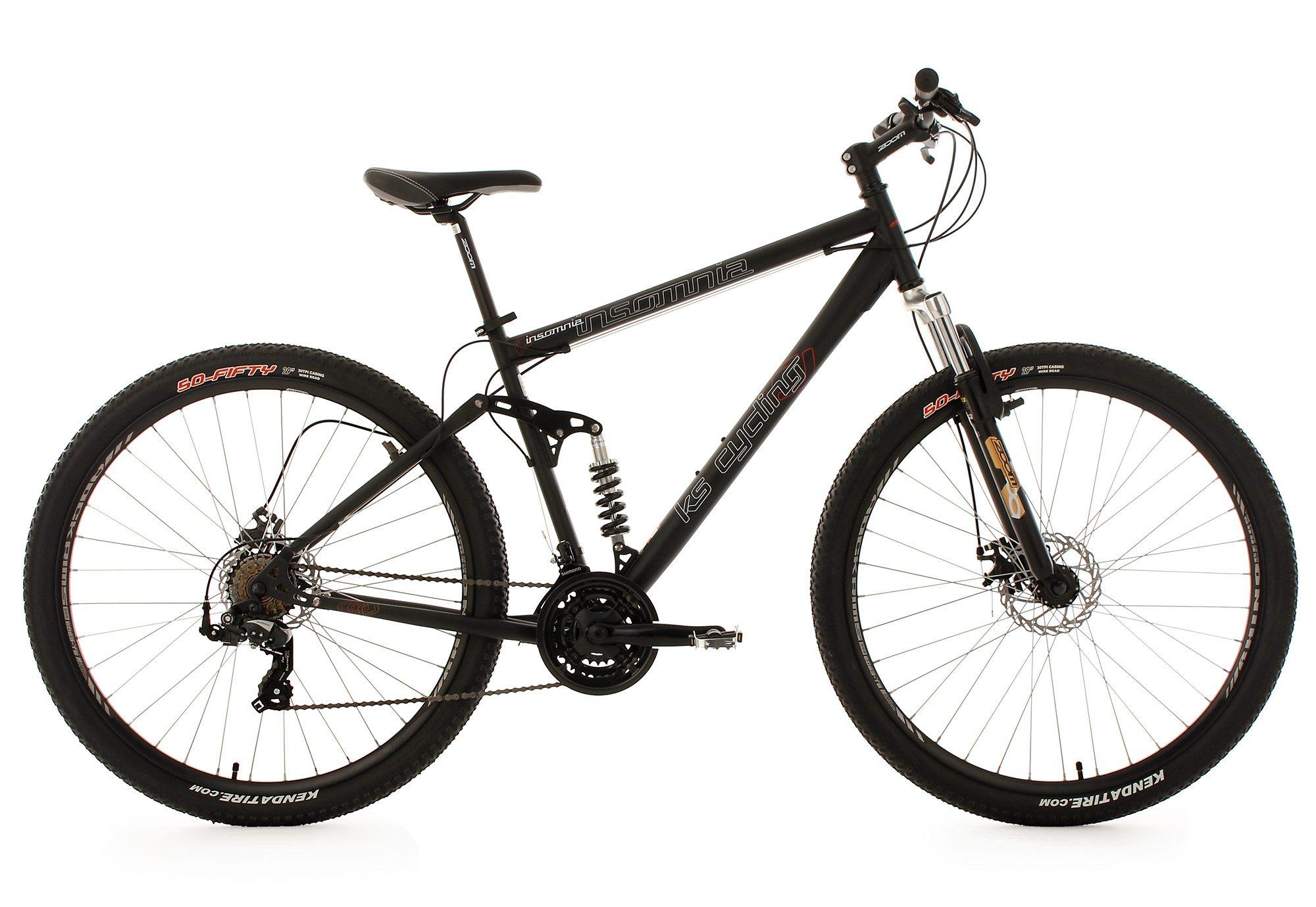 KS Cycling Fully Mountainbike, 29 Zoll, schwarz, 21 Gang-Kettenschaltung, »Insomnia«