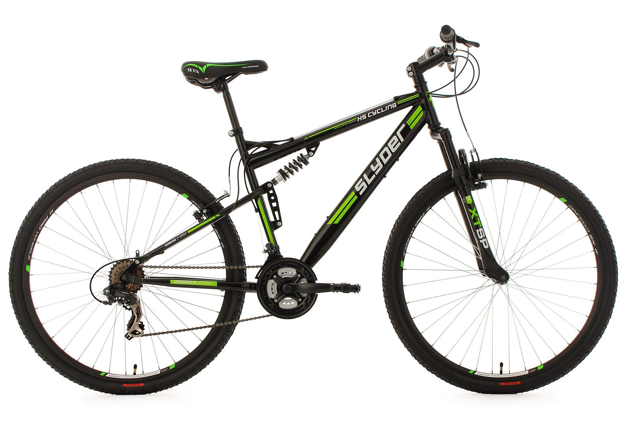 KS Cycling Fully-Mountainbike, 29 Zoll, schwarz, 21 Gang-Kettenschaltung, »Slyder«