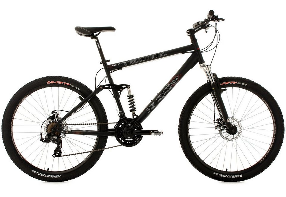 ks cycling fully mountainbike 27 5 zoll schwarz 21 gang. Black Bedroom Furniture Sets. Home Design Ideas