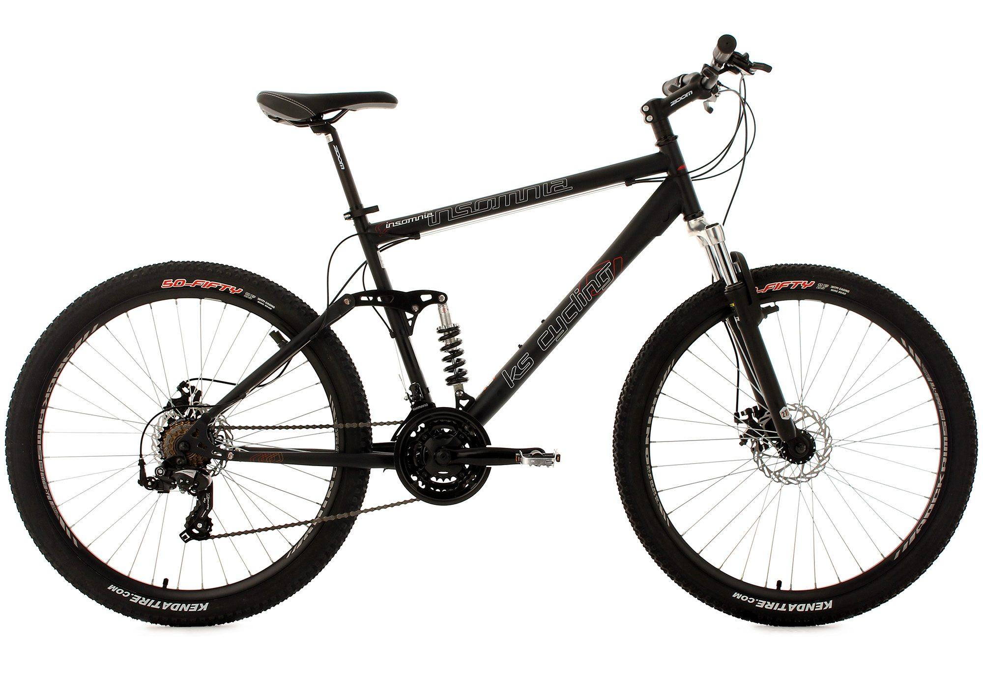 KS Cycling Fully Mountainbike, 27,5 Zoll, schwarz, 21 Gang-Kettenschaltung, »Insomnia«