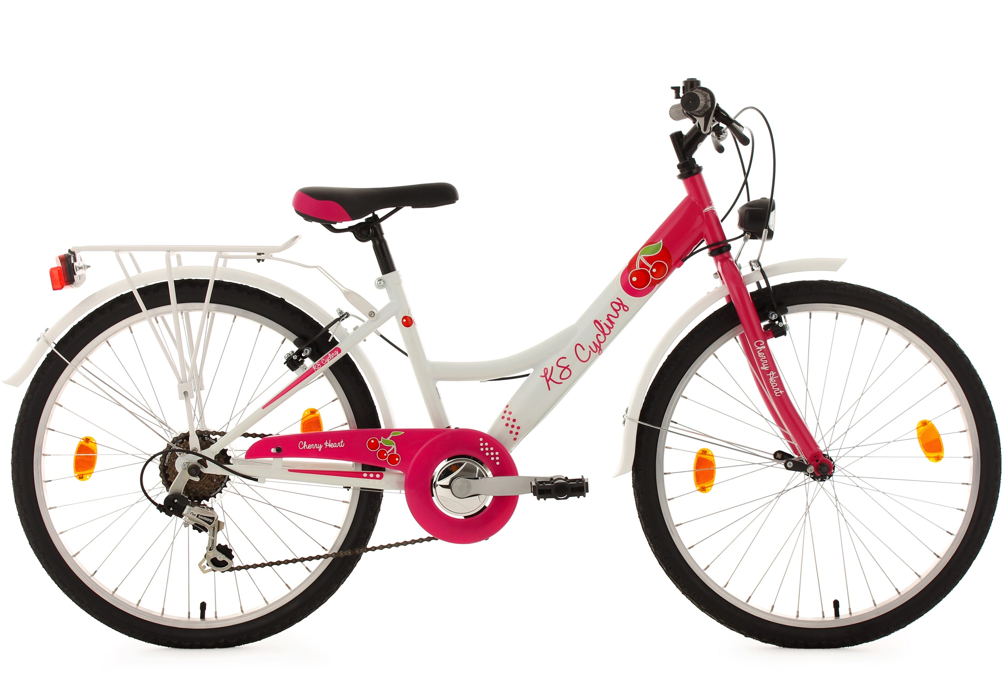 24 Zoll Mädchen//Kinderrad Gelb Shimano 21Gang Kettenschaltung Alu Plus Licht