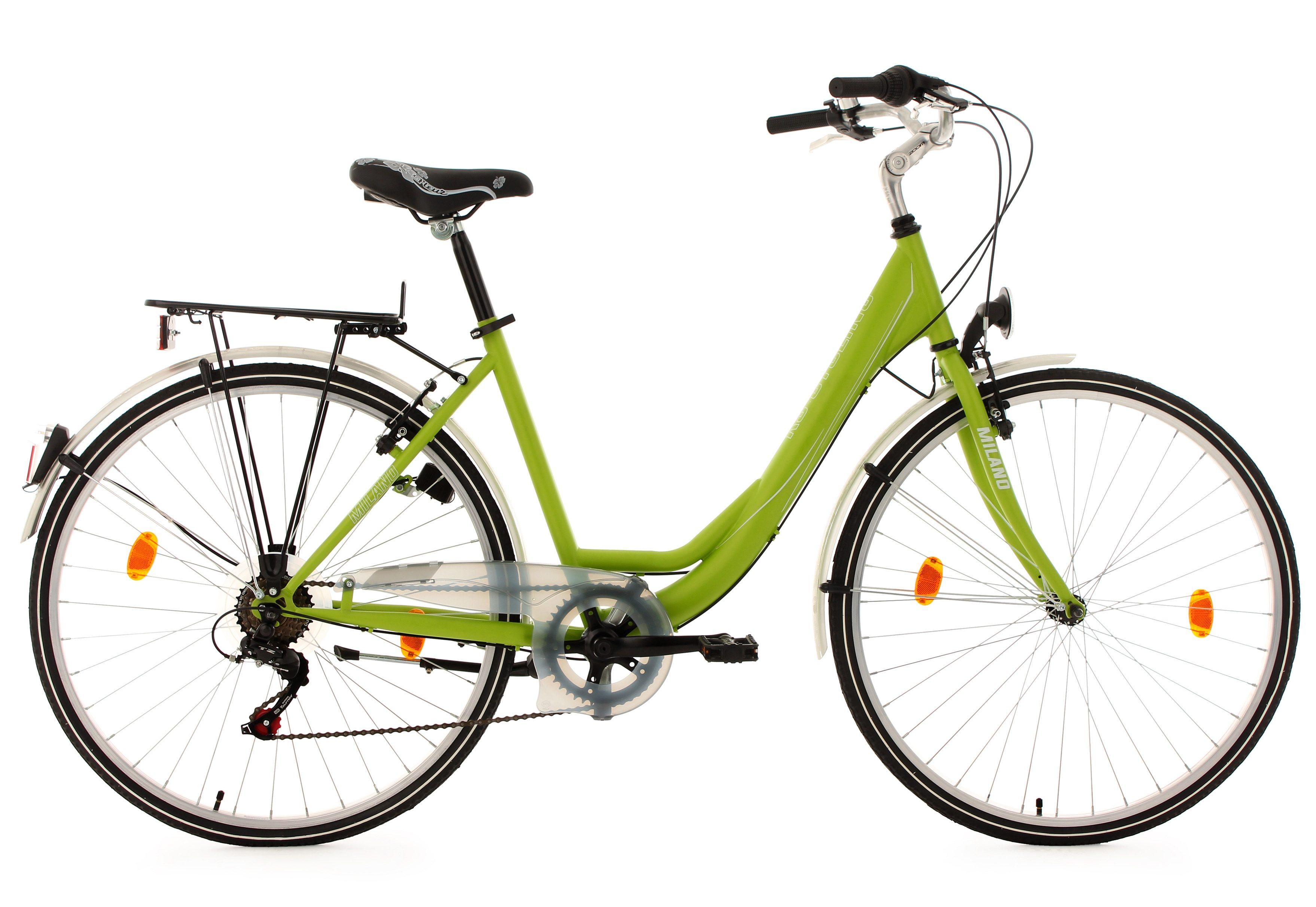 KS Cycling Damen Cityrad, 28 Zoll, grün, 6 Gang-Kettenschaltung, »Milano«