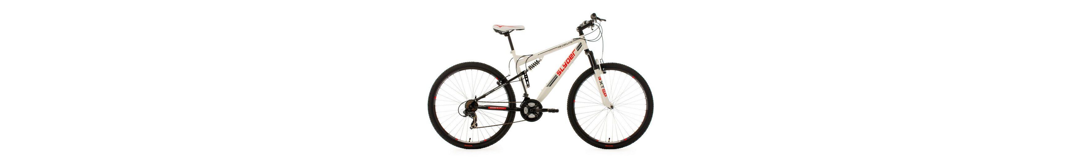 KS Cycling Fully-Mountainbike, 29 Zoll, weiß, 21 Gang-Kettenschaltung, »Slyder«