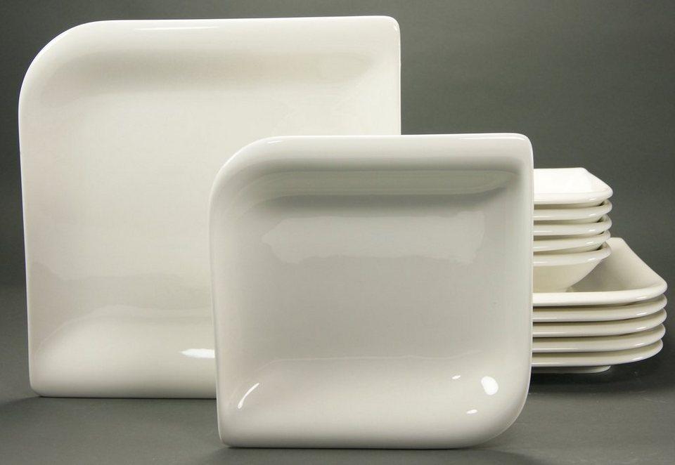 Tafelservice, Porzellan, »NEW PACIFIC« in creme-weiß